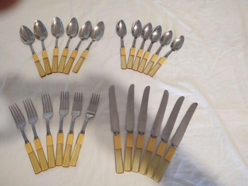 Bakelite flatware set of 6