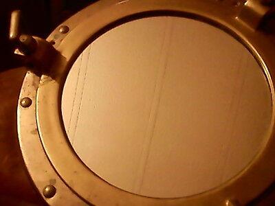 "Vintage 11.5"" Brass Porthole 8"" Mirror Nautical Ships Port Hole Coastal Rustic"