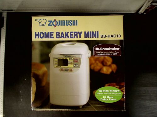 Zojirushi Home Bakery Mini Bread Maker BB-HAC10, White, NIB