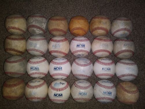 24 baseballs used in NCAA Div1/NAIA competition/training