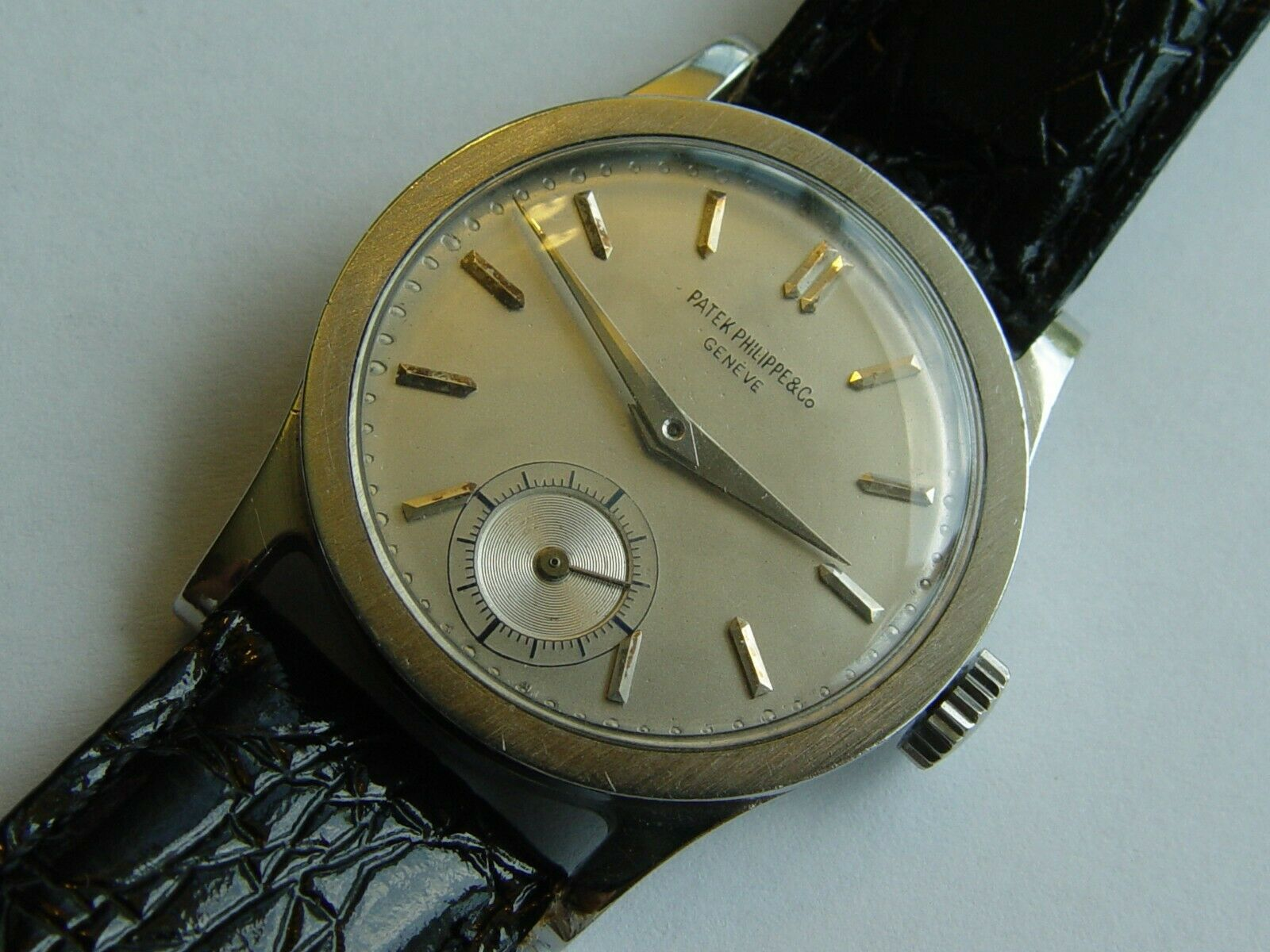 Rare stainless steel Patek Philippe 96 Calatrava men's watch cal 12-120 movement - watch picture 1