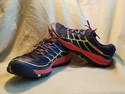 Mens Merrell All Out Rush Shoes Size 13 Black Yellow Orange