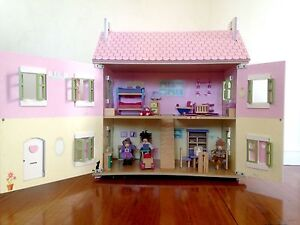 Beautiful wooden dollhouse and accessories Newcastle Newcastle Area Preview