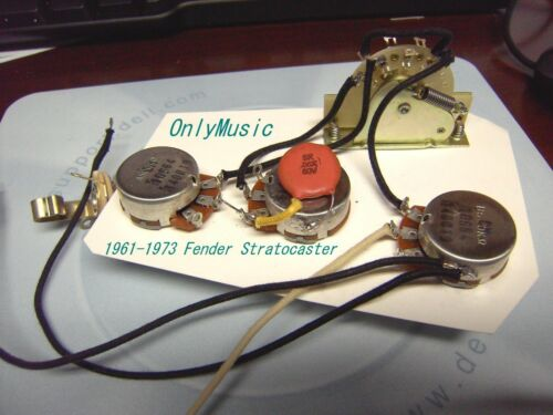 COMPATIBLE TO FENDER STRAT STRATOCASTER REPRODUCTION VINTAGE WIRING HARNESS