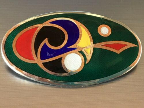 Irish Tara Ware Sterling Silver Enamel Celtic  Brooch Pin Signed and Stamped