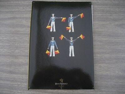 CUNARD  QE2  MENU  HOLDER  SEPT 1987