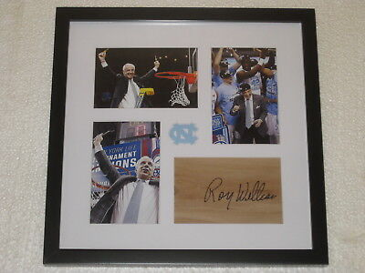 df84462409a Roy Williams Signed Floorpiece Framed North Carolina Basketball COA  Autograph