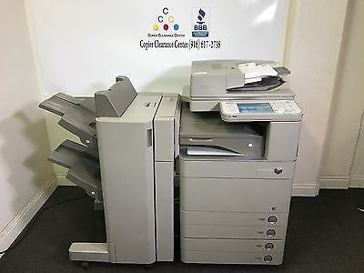 Canon Imagerunner Advance C5250 Color Printer Copier Scanner Fax Finisher 404k