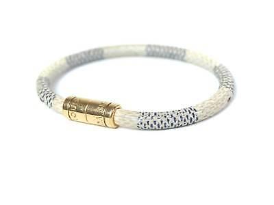 Auth LOUIS VUITTON Damier Azur Canvas Bracelet LV5317L