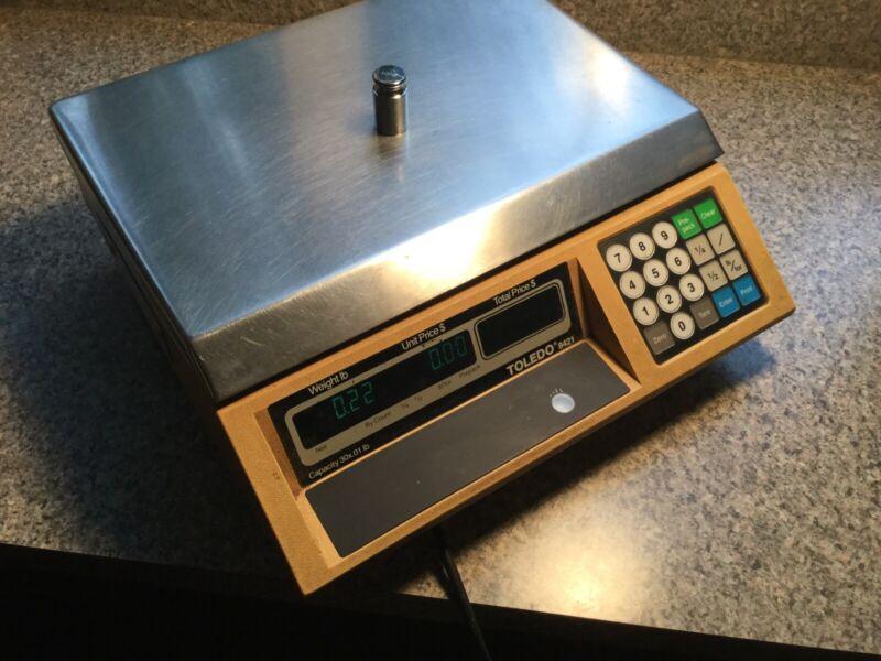 Toledo 8421 Digital Price Computing Scale 30 lb FRONT & REAR Display Deli Bakery