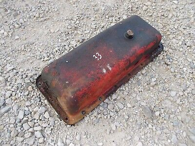Massey Harris 33 Tractor Original Mh Engine Motor Oil Pan W Drain Plug