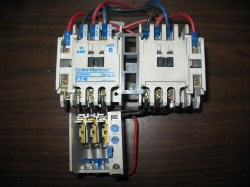 Cutler Hammer AE56BN0 Size B 10 Amp Reversing Motor Starter w/ 120V Coil