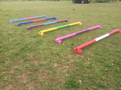 horse show jumps showjump Set of 4 Pairs raised trotting polepods Cavaletti