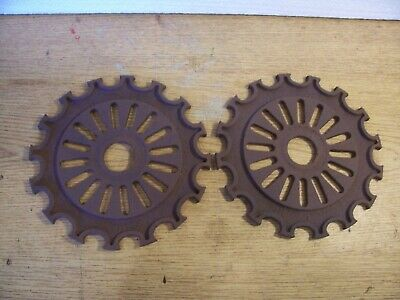 2 Vintage Cast Iron Ih Planter Plates 1891-a International Harvester Lot Bb