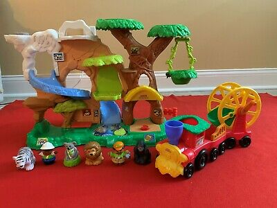 LOT FISHER-PRICE LITTLE PEOPLE ZOO TALKERS ANIMAL SOUNDS ZOO, ZOO TRAIN & DVD