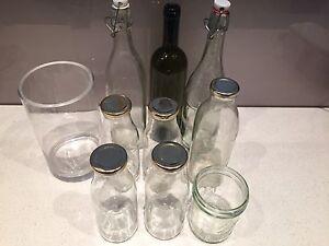 Various glass bottles, jars and vase Kings Cross Inner Sydney Preview