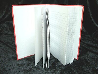 1 X Red A5 Ruled Hardback Notebook 5 Star 912890 96 Pages