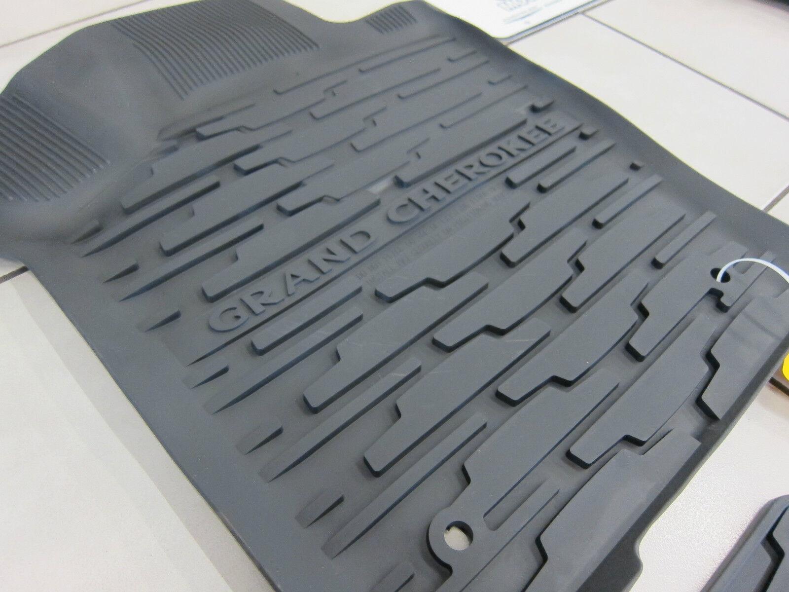 2013 2015 jeep grand cherokee rubber slush floor mats cargo tray liner set ebay. Black Bedroom Furniture Sets. Home Design Ideas
