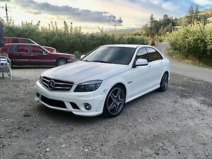 Mercedes C63 AMG  white  clean title winter tires