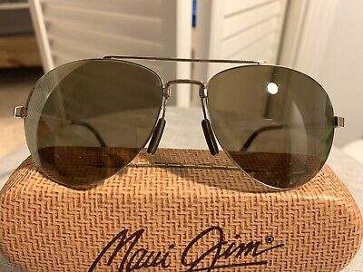 MAUI JIM Pilot MJ-210-16 UNISEX GOLD FRAME Polarized (Maui Jim Pilot Polarized Sunglasses)