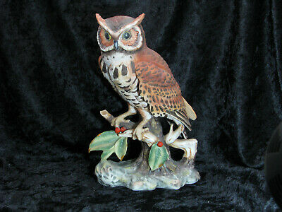 Great Horned Owl on Branch Ceramic Bisque ready to paint