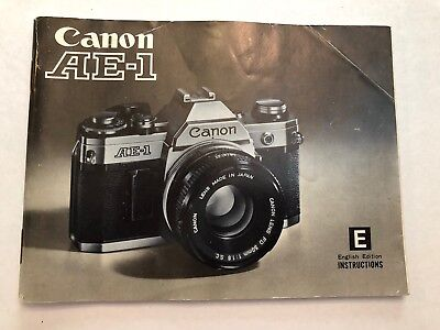 (CANON AE-1 camera INSTRUCTIONS OWNERS MANUAL Guide Book)