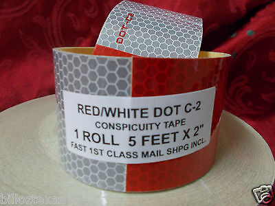 Dot-c2 Reflective Conspicuity Tape Safety 5 Foot Roll  Free Fast Shipping
