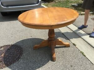 Solid wood table near Jane and Eglinton