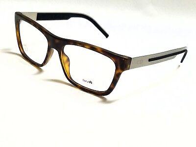 Authentic CHRISTIAN DIOR Eyeglasses BLACK TIE 184 J05 Soft Havana Palladium 54mm