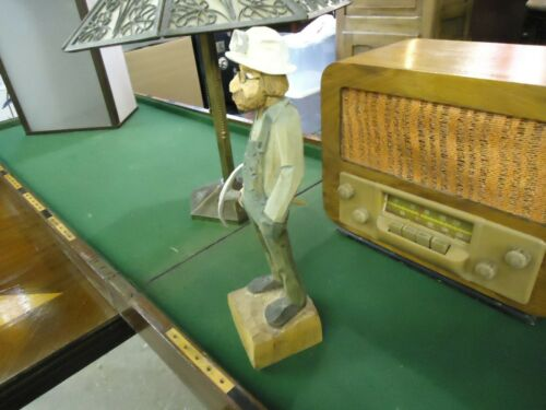 Gerald Sears Original Woodcarving…Luther…CCA Member…RARE COAL MINER CARVING