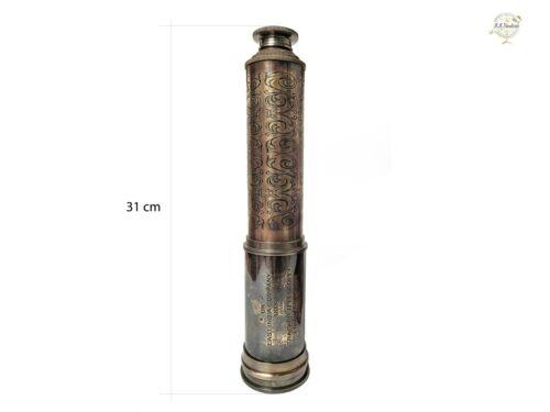 "34"" Antique East India Company 1818 London Rare Gift  Brass Tracker Telescope"