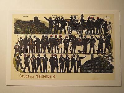 Heidelberg - Gruss aus ... Korporationen / Studentika Corps Burschenschaft