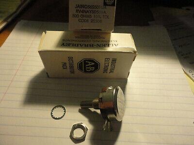 Allen Bradley 500 Ohm Type J Linear Rv4naysd501a Ja1n056s501ua Potentiometer