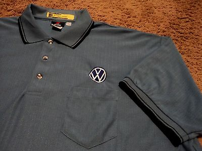 Mens   Vw Volkswagen   Ribbed Embroidered Polo Golf Shirt By Aramark 2Xl Xxl