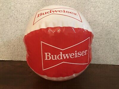 "VINTAGE 8"" BUDWEISER BEACH BALL Bud Beer Advertising Promotional Item Promo RARE"
