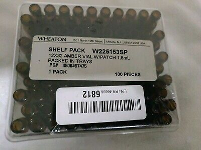 Wheaton W225153sp 12x32 Amber Vial Wpatch 1.8ml 100pieces