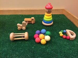 Baby safe wood toys.
