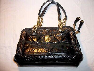 NEW Marc Jacobs Quilted Black Leather Handbag Shoulder Bag With Gold Hardware