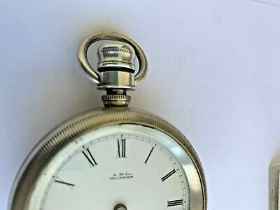 Waltham Wm Ellery Waltham Sterling Case Dust proof Crown 1893403 Great potential