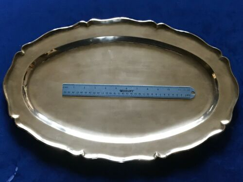 Sterling Silver Tray 925 Mexico Ortega HUGE SIZE! 20 x 14 Inches, 1560 grams