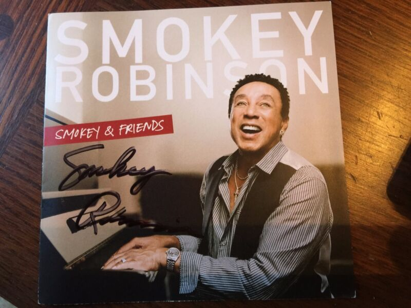 AUTOGRAPHED SMOKEY ROBINSON Smokey and Friends CD Signed