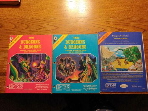 D&D Basic & Expert rulebooks & X1