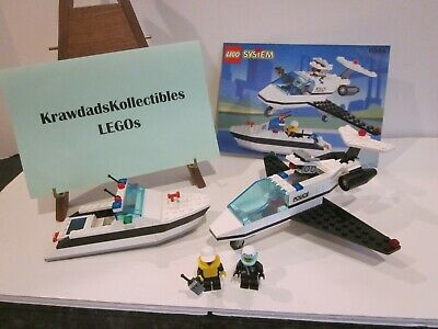 VTG LEGO CLASSIC TOWN POLICE 6344 JET SPEED JUSTICE COMPLETE W/ MINIFIGS MANUAL