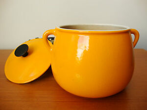 cousances le creuset cast iron enamel fondue pot france fire orange ebay. Black Bedroom Furniture Sets. Home Design Ideas