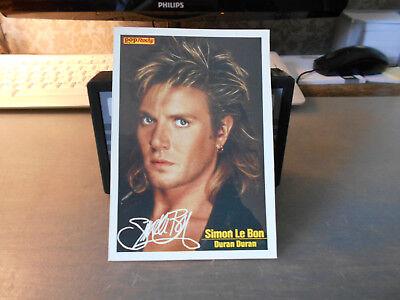 Simon Le Bon (Duran Duran) ++ Pop / Rocky-Starkarte ++ Autogrammkarte ++ TOP ++ Rocky-star