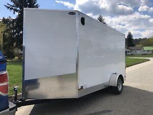 2018 6x12 V-nose cargo trailer with ramp door