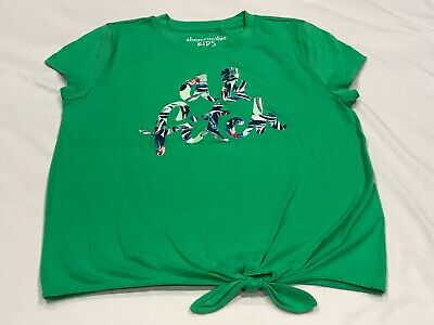 ABERCROMBIE KIDS GIRLS GREEN TOP SIZE 11/12