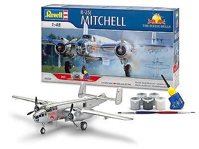 Revell Model Kit - Gift Set B25J Mitchell Flying Bull Plane - 1:48 Scale - 05725