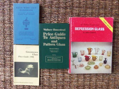 LOT OF 4 PRICE GUIDE HANDBOOKS GLASS DEPRESSION GREENTOWN PATTERN