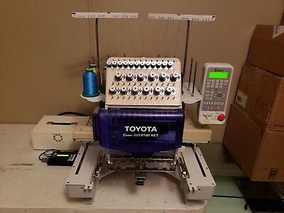 Toyota Ad850 Single Head Embroidery Machine And Supplies